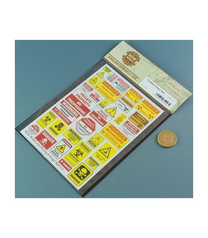 Matho Papel Carteles de Aviso y Peligro 1/35 35116