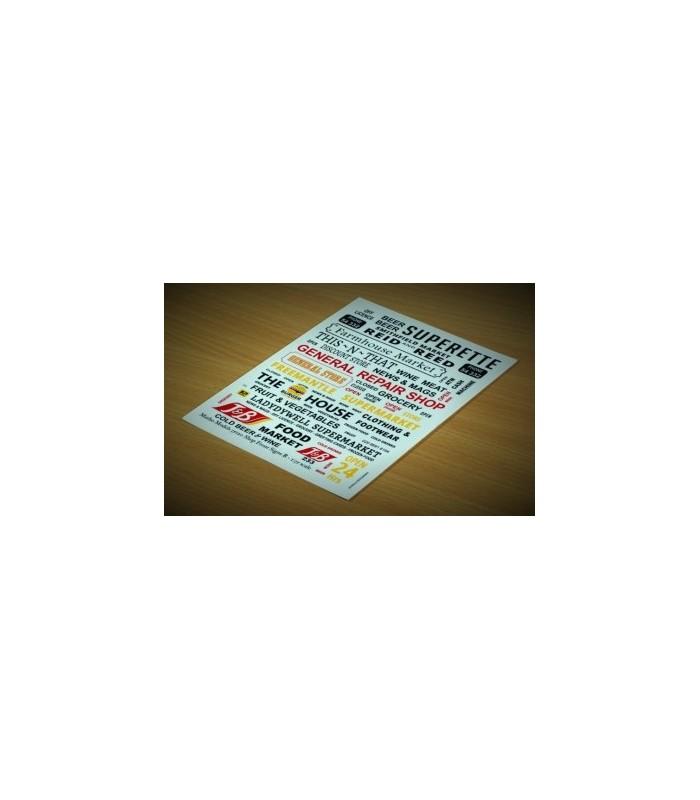 Matho Calcas Carteles Tiendas B 1/35 35120