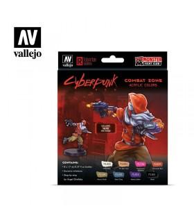 Set Cyberpunk Red Combat Zone Vallejo 8u. 72307