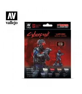 Set Cyberpunk Red Lawmwn Vallejo 8u. 72308