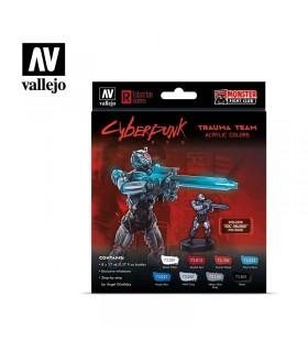 Set Cyberpunk Red Trauma Team Vallejo 8u. 72310