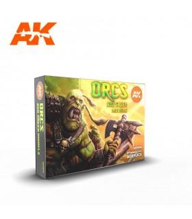 Set AK Orcos y figuras verdes 6u. AK11600