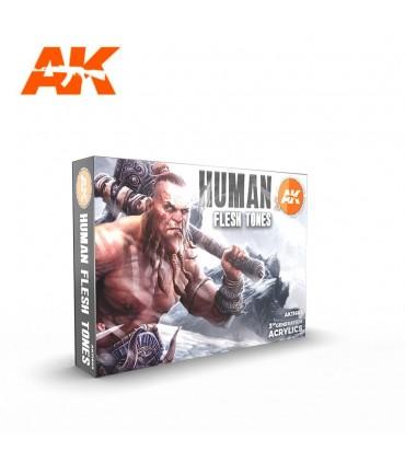 Set AK Human Flesh Tones 6u. AK11603