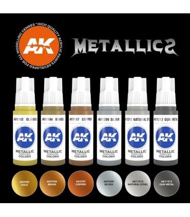 Set AK Colores Metálicos 6u. AK11608