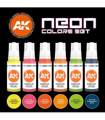 Set AK Colores Neón 6u. AK11610