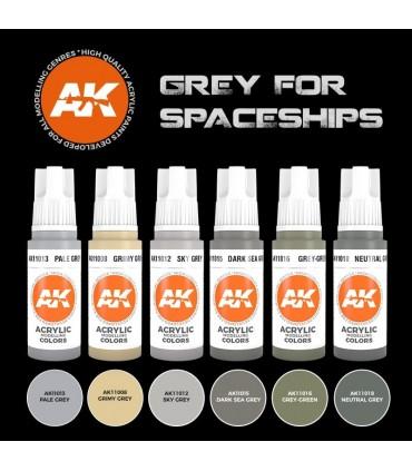 Set AK Grises para Naves Espaciales 6u. AK11614