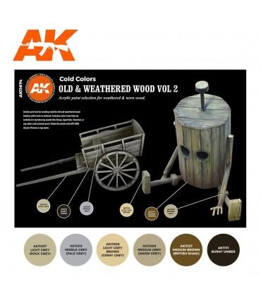 Set AK Madera Vieja y Degradada Vol 2 6u. AK11674