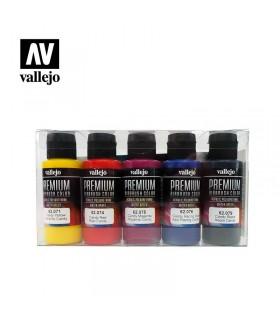 Set Premium Candy Vallejo 5 colores