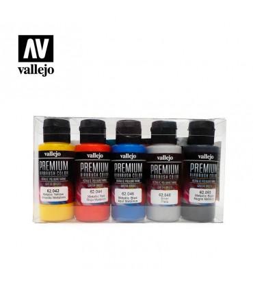 Set Premium metálico Vallejo 5 colores