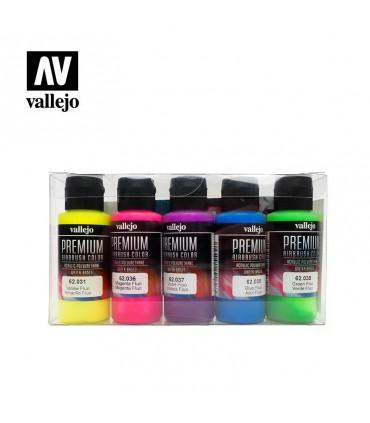 Set Premium Fluo Vallejo 5 colores