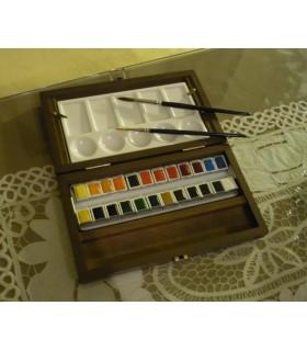 Caja Madera Acuarelas Pastillas Van Gogh GWC8624