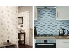 Papier peint cuisine et salle de bain