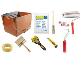 Espátulas, cubetas, material de cubrición y accesorios
