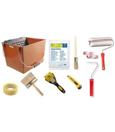 Espátulas, cubetas, material de revestimento e acessórios